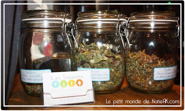 Tisanes L'art'isane de Anne Ménoret Restaurant Les saisons