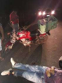 Condutor com moto placa de Esperantinópolis morre na estrada entre Lima Campos e Independência