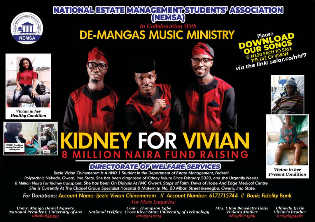 [Fund Raising] De Mangas - My past + It doesn't matter (Fundraising to  support Vivian Ijezie Chinemerem)