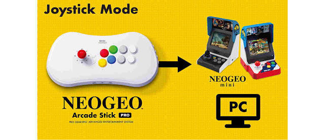 Neo Geo Arcade Stick Pro Termasuk 20 Game Pra-Instal