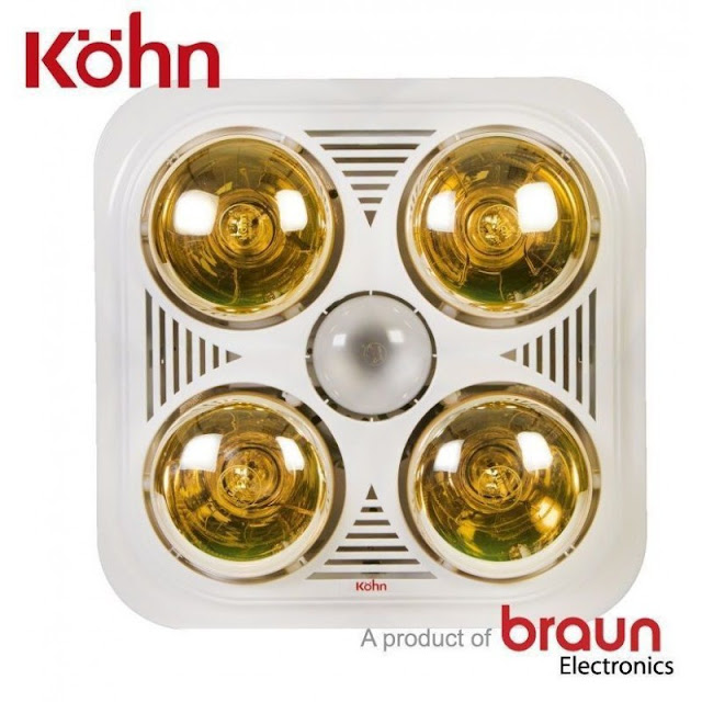 Đèn sưởi nhà tắm Braun Kohn BU04GR 4 bóng