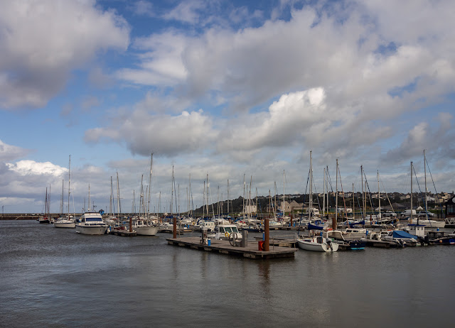 Photo of Maryport Marina when the weather improved on Saturday afternoon
