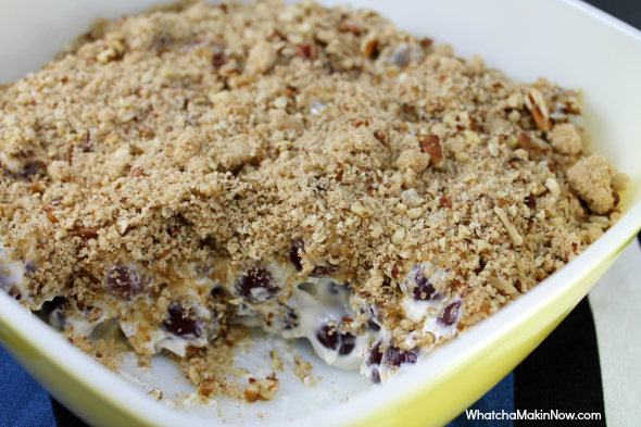 Brown Sugar and Pecan Grape Salad - so easy to make and crosses the line of side dish and dessert!