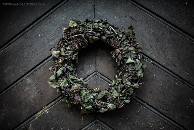 Aker Dantzaria Witch House Door Pagan Wreath Crown by Victoria Francés