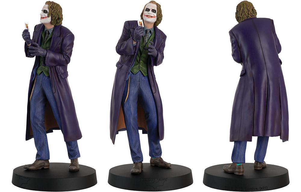 batman movie megas figurines collection, batman movie megas collection, eaglemoss collections, hero collector, mega the joker figurine, heath ledger figurine