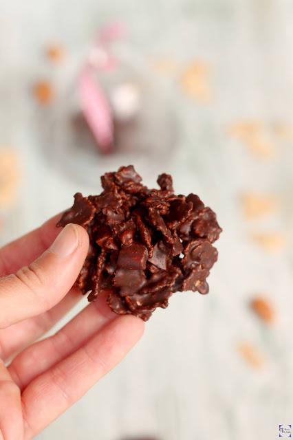 Rocas de chocolate con 3 ingredientes