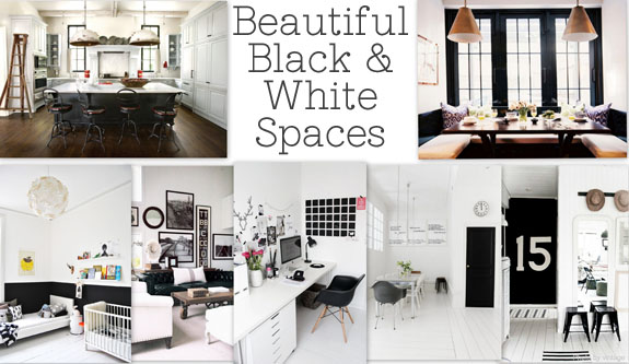 Draw room inspiration with these beautiful black and white spaces from some seriously amazing bloggers...