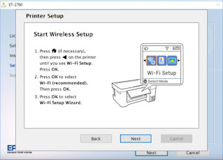 Start printing using wireless network
