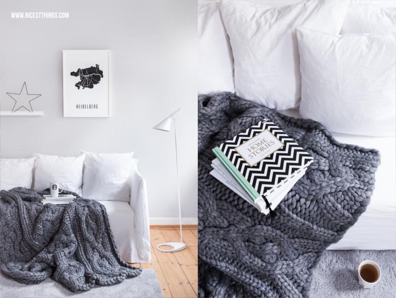 Gervasoni Ghost Sofa mit Ugg Oversized Strickdecke