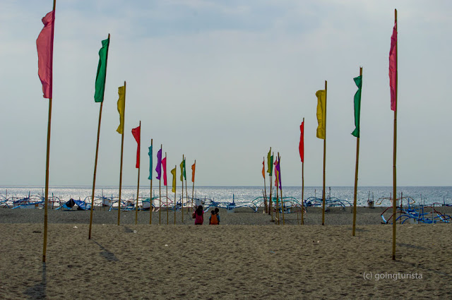 Beach Flags at San Miguel Beach