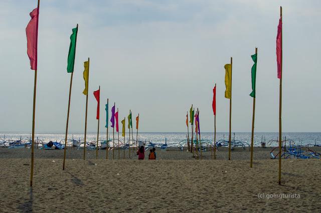 Beach Flags at San Miguel Beach