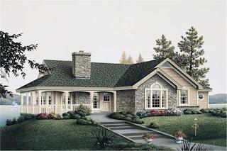Lake-House-Plans-Stone-Pillars