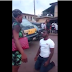 Man leaves people in shock as he knelt down to beg lady who kept slapping him