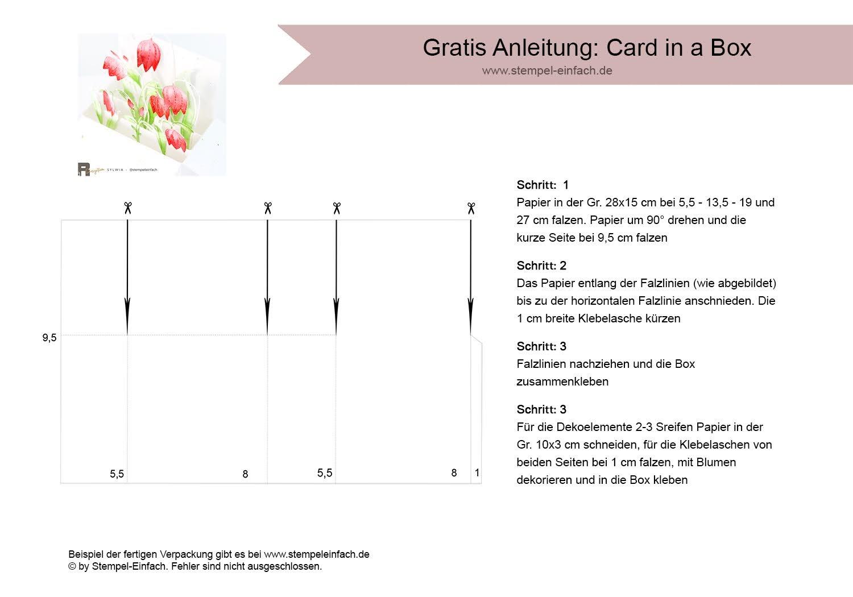 Anleitung Card in a Box mit Blumen