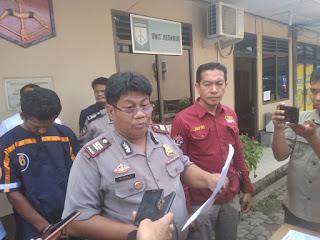 Tersangka F Kasus Pencurian Diamankan Pihak Polsek Jambi Selatan Kota Jambi.