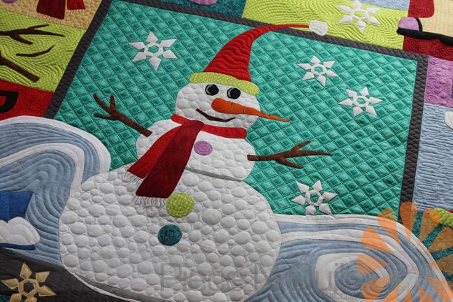 Piece N Quilt Wanna Build A Snowman Quilt Custom Machine Quilting