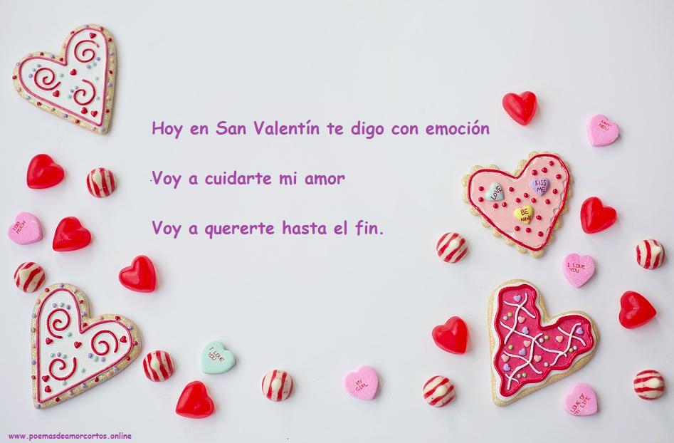 Poemas de amor cortos para san valentin