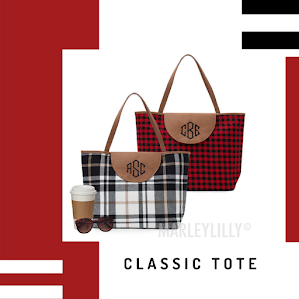 monogrammed classic tote