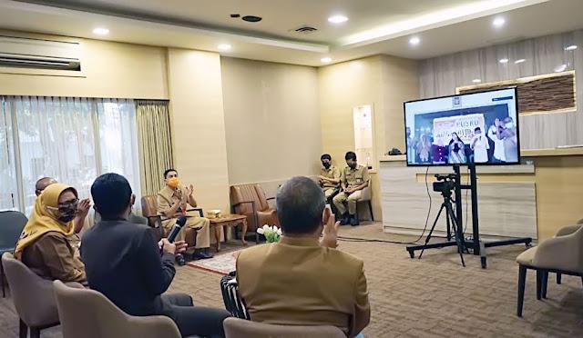 Video Conference bersama pemerintah desa dan Kemendes PDTT RI