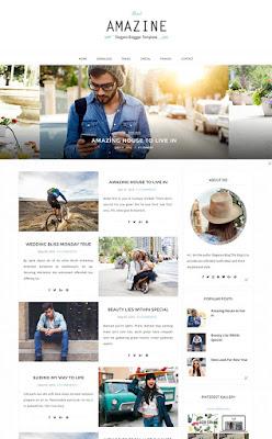 Amazine Blogger Responsive Design modern style Image