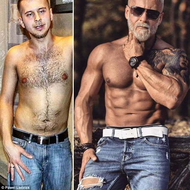 Pawel Ladziak before and after photos