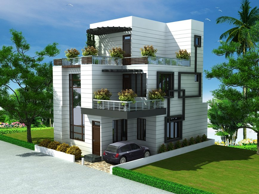 Home elevation cool design home for House elevation for three floors building