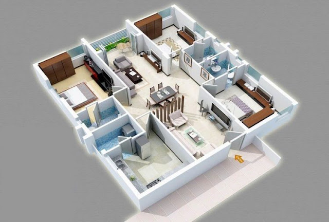 minimalist house plans 3 rooms