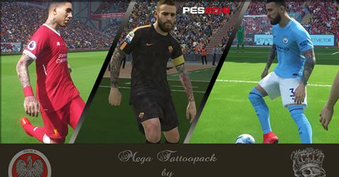 Mega Tattoo Pack PES 2018