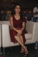 Pragya Jaiswal in Stunnign Deep neck Designer Maroon Dress at Nakshatram music launch ~ CelebesNext Celebrities Galleries 101.JPG