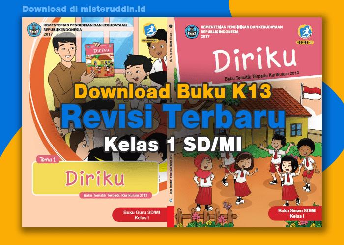 Buku K13 Revisi Terbaru Kelas 1 SD/MI Semester 2 (2020)