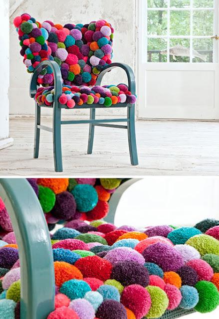 Sillones Coloridos.Sillones Coloridos Con Bolitas De Material Blando Y Suave
