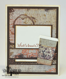 North Coast Creations Stamp Set: What's Brewin'?, Paper Collection: Vagabond Treasures, Custom Dies: Beverage Cups, Double Stitched Rectangles, Pierced Rectangles, Double Stitched Squares