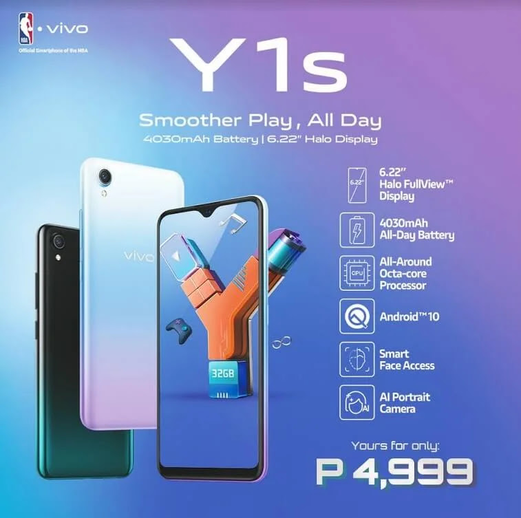 vivo Y1s with Octa-Core Chip and 4030mAh Battery Now Available in the Philippines for Only Php4,999
