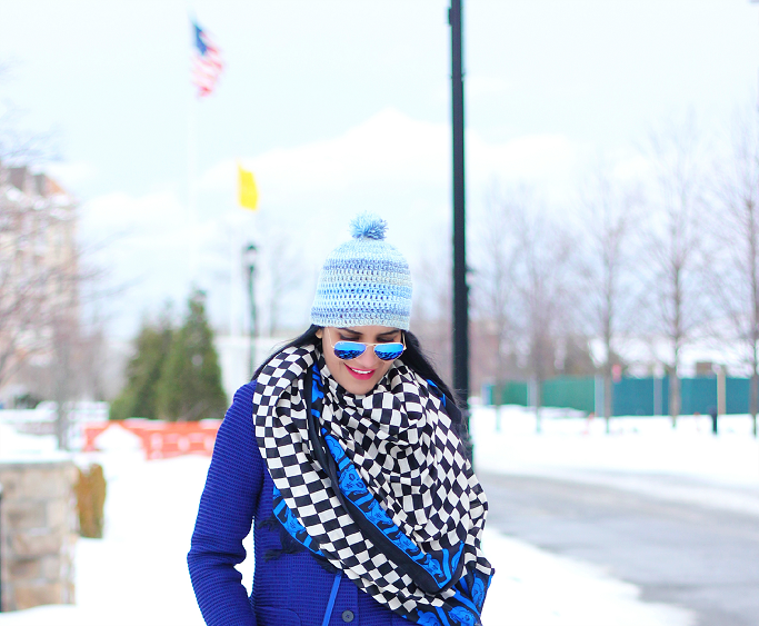 Snow Outfits Ideas, Winter Layering Outfits, Kamik 'Jennifer' Rain Boots, Blue Beanie