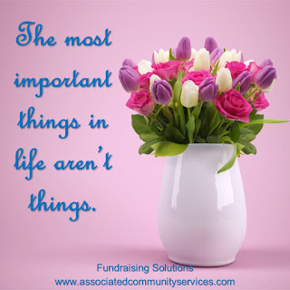 Most important things in life aren't things