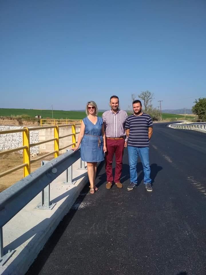 Ασφαλτόστρωση της γέφυρας Στανού - Μελισσουργού