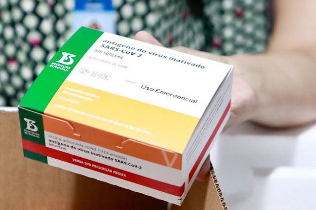 VACINAÇÃO: Butantan entrega mais 2 milhões de doses da CoronaVac ao Ministério da Saúde