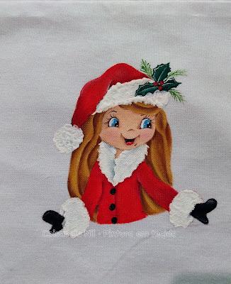 pintura boneca de natal mamae noel