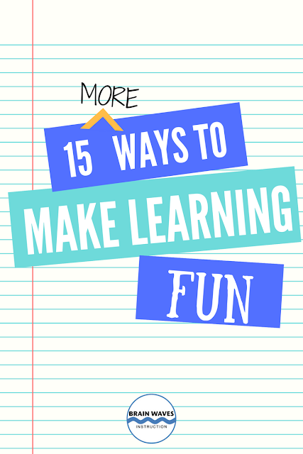 A classroom filled with students having fun while they learn is the absolute best!  Check out this list of 15 ways to do just that!