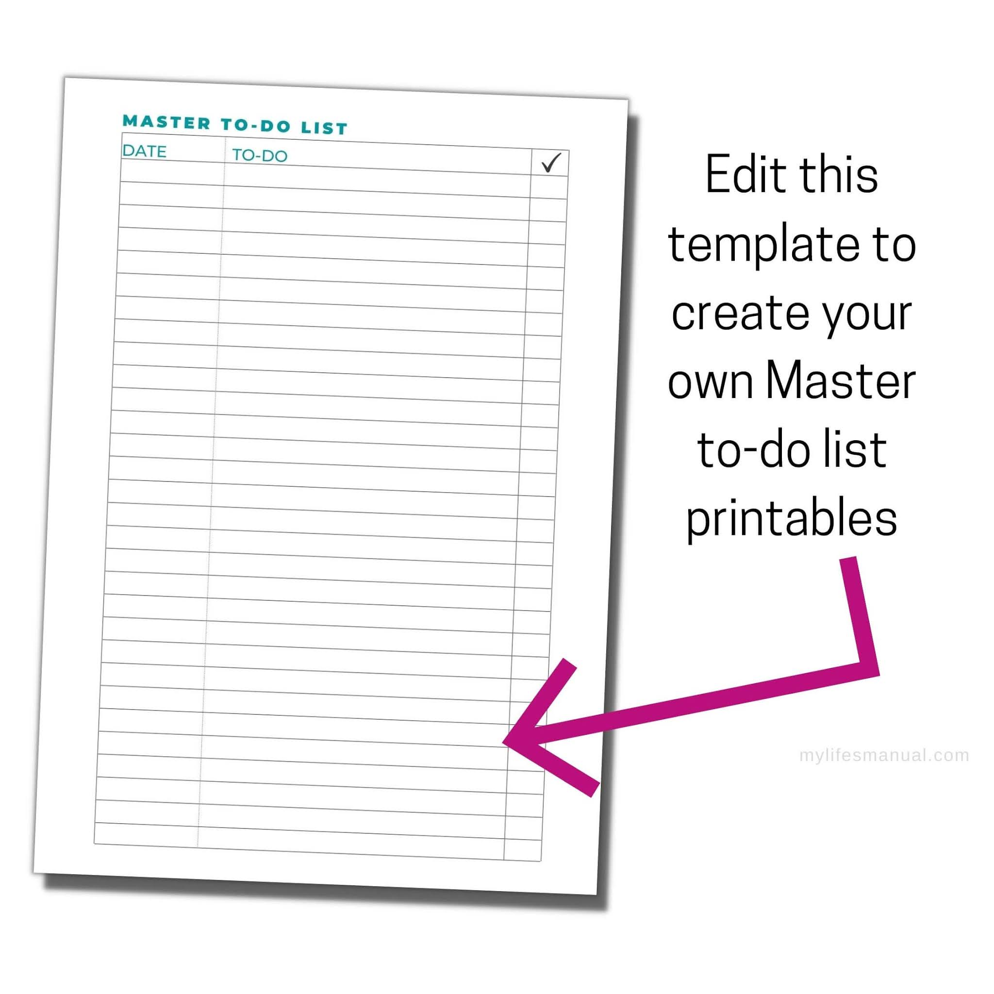 Printable templates for bloggers