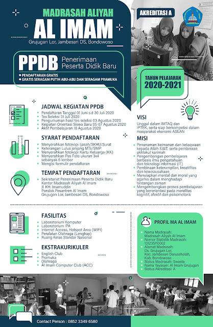 Brosur PPDB MA Al Imam Tahun 2020