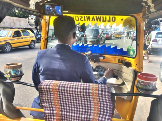 Corporate Keke Driver Customizes His Keke With Cups Of Sweets For Passengers