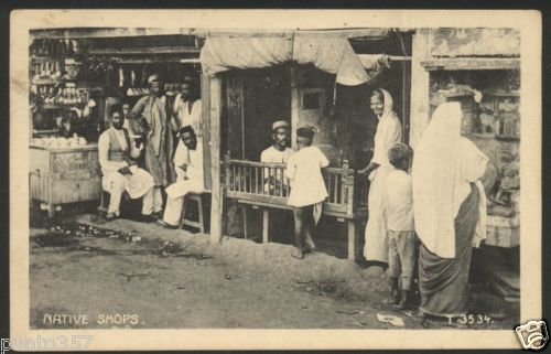 Indian Native Shops - Vintage Postcard