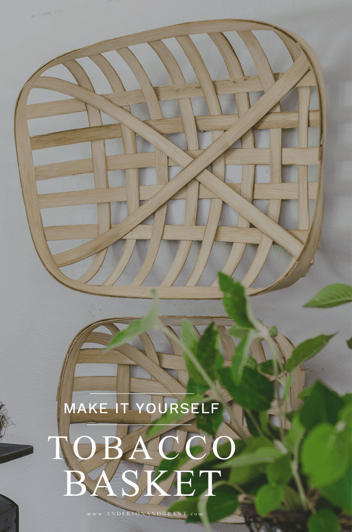 Make it yourself tobacco basket