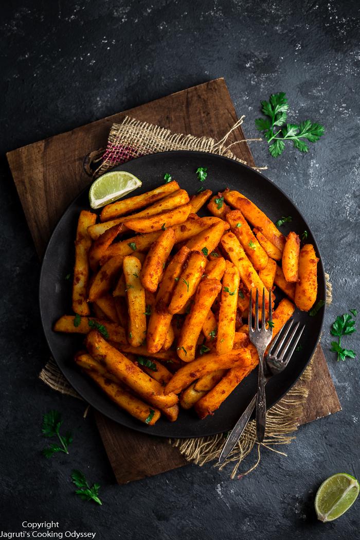 Serving of Kenyan Masala Chips