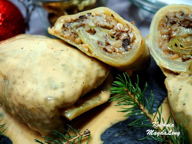 Gołąbki z kaszy gryczanej i surowych ziemniaków