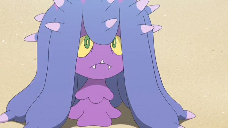 Mareanie Roxo Anime Pokémon