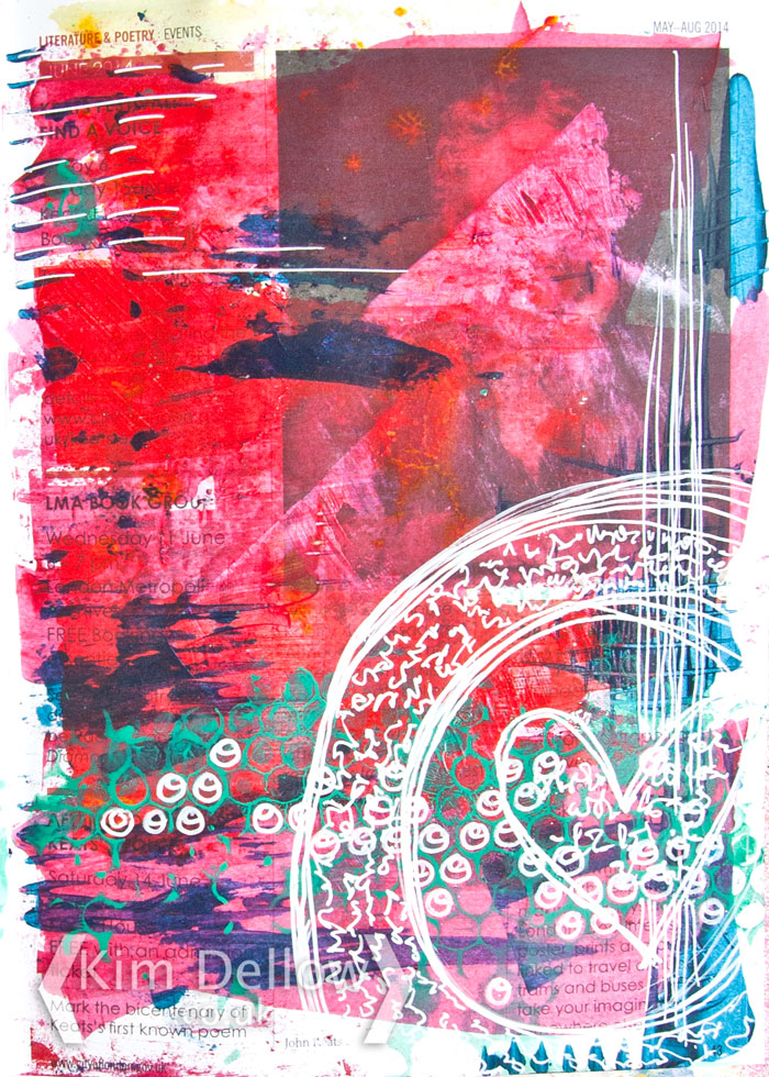 Kim Dellow - Page two of a two page art journal series