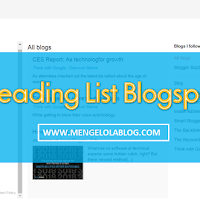 Menggunakan Reading List Blogspot