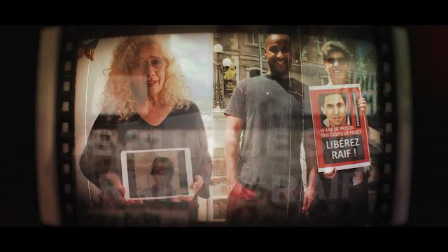 Militants pour le libération de Raif Badawi, extrait du clip de Jøhan Gass pour la chanson #JeSuisRaif et Ensaf